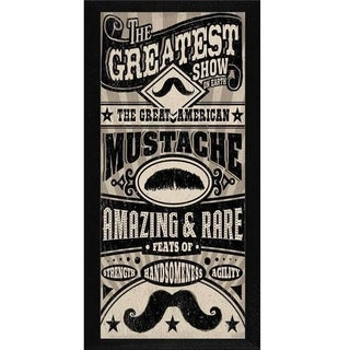 Cory Steffan 'Great American Mustache' Framed Wall Art