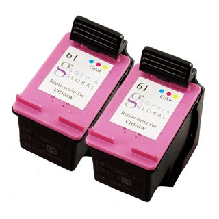 Sophia Global Remanufactured Ink Cartridge Replacement for HP 61 (Remanufactured) (Pack of 2)
