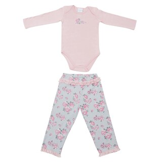 Kathy Ireland Girl's 2-piece Rose Pant Set