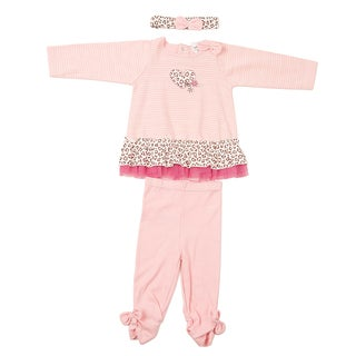 Kathy Ireland Girl's 3-piece Heart Pant Set