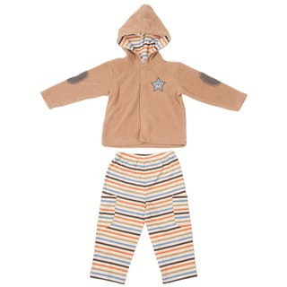 Kathy Ireland Boys 'Bear Hugs' Tan 2-piece Jacket Set