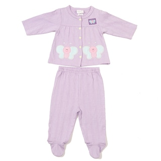 Kathy Ireland Girl's Lilac 2-piece Footed Pants Set