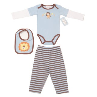 Kathy Ireland Boys Lion Theme 4-piece Bib Outfit
