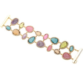 Ralph Lauren Multi-colored Semi-precious Stone Double Row Fashion Bracelet