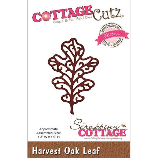 CottageCutz Elites Die 1.3 X1.9 - Harvest Oak Leaf