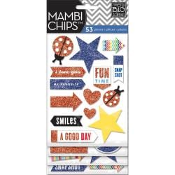 Chipboard Stickers 4 Sheets - Happy Day