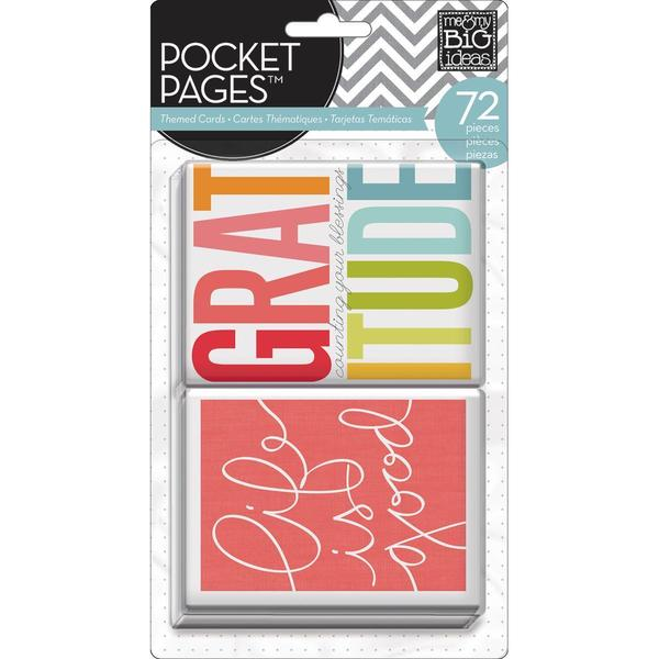 Me & My Big Ideas Pocket Pages Themed Cards 72pcs - Story Of Me
