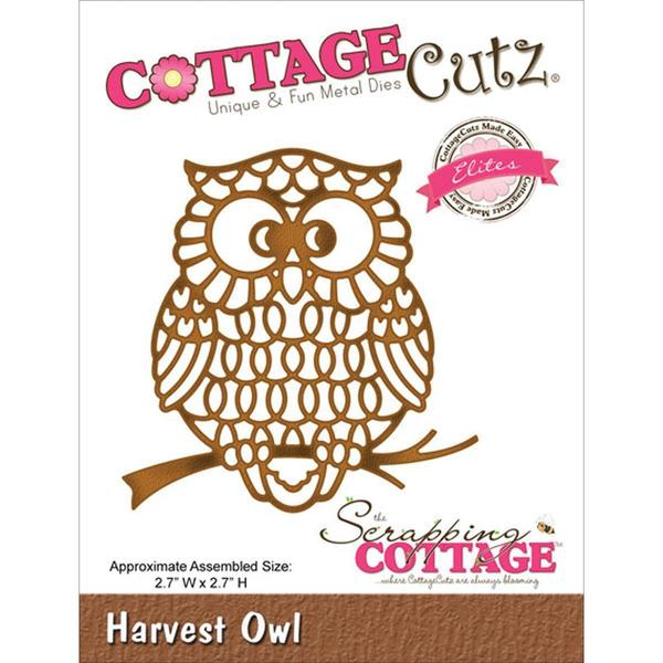 CottageCutz Elites Die 2.7 X2.7 - Harvest Owl