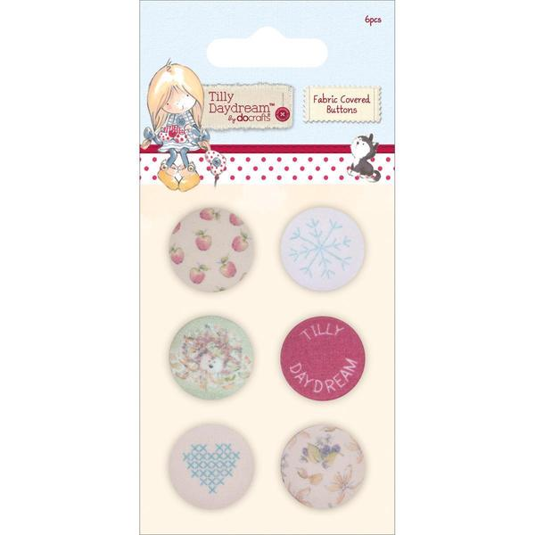 Tilly Daydream Fabric Covered Buttons 25mm 6/Pkg -
