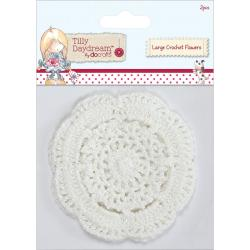Tilly Daydream Crochet Doily Flowers 2/Pkg -