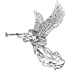 IndigoBlu Cling Mounted Stamp 3 X3 - Angel - Dinkie