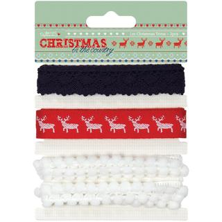 Papermania Christmas In The Country Trims 3/Pkg - 3 Designs/1 Meter Each
