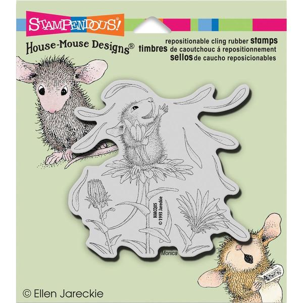 Stampendous House Mouse Cling Rubber Stamp 5.5 X4.5 Sheet - She Loves Me