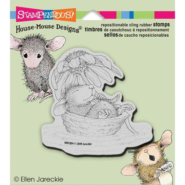 Stampendous House Mouse Cling Rubber Stamp 5.5 X4.5 Sheet - Daisy Float