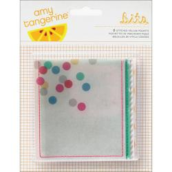 Cut & Paste Bits Stitched Vellum Pockets 6/Pkg -