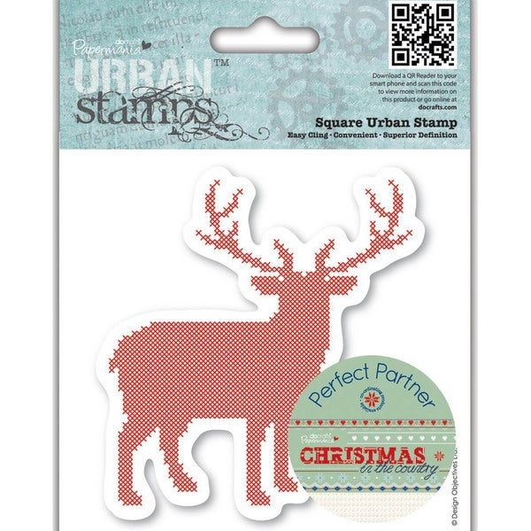 Papermania Christmas In The Country Urban Stamps 4 X4 - Stag