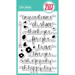 Avery Elle Clear Stamp Set 4 X6 - Oh Happy Day