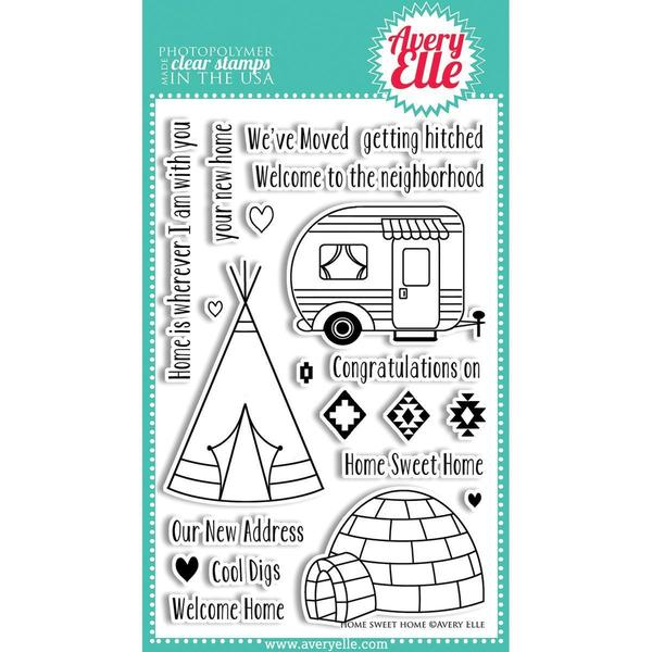 Avery Elle Clear Stamp Set 4 X6 - Home Sweet Home
