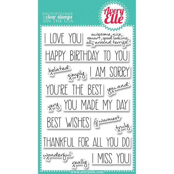 Avery Elle Clear Stamp Set 4 X6 - Handwritten Notes