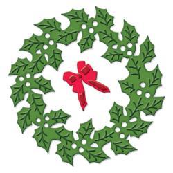 Spellbinders Shapeabilities Die D-Lites - Holly Wreath