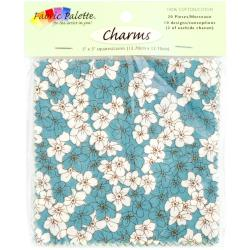 Fabric Palette Charm Pack 5 X5 Cuts 100 Cotton 20/Pkg - Zinnia Blue