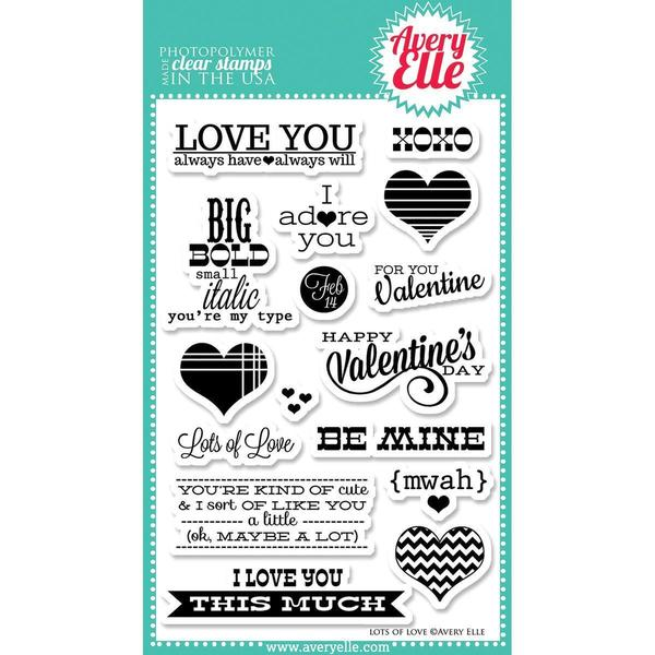 Avery Elle Clear Stamp Set 4 X6 - Lots Of Love