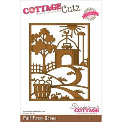 CottageCutz Elites Die 3.5 X4.5 - Fall Farm Scene