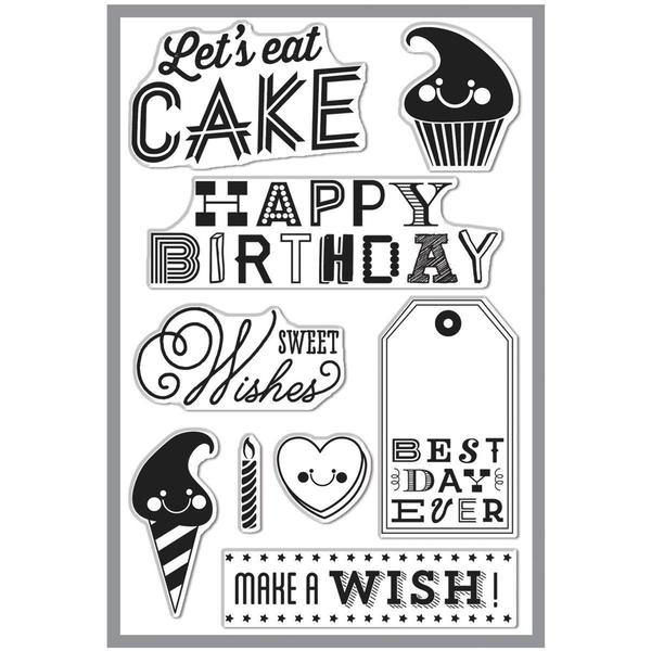 Basic Grey RSVP Clear Stamps By Hero Arts - Sweet Wishes