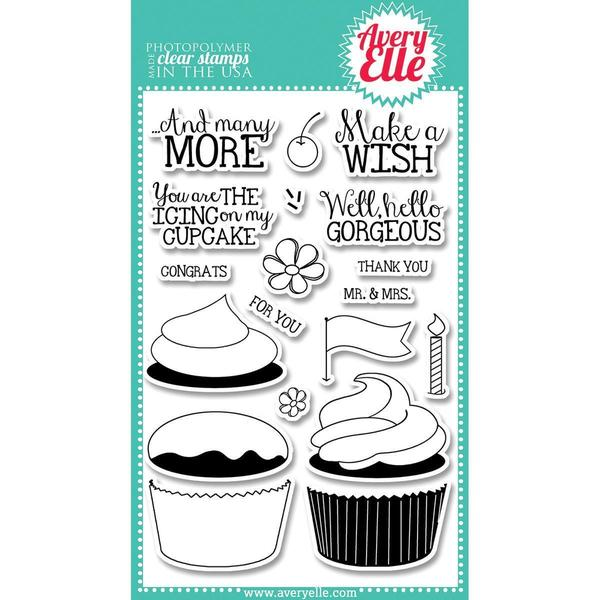 Avery Elle Clear Stamp Set 4 X6 - Cupcakes