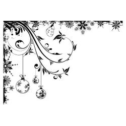 IndigoBlu Cling Mounted Stamp 9.25 X6.25 - Frosted Baubles