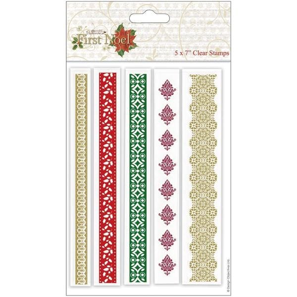 Papermania First Noel Clear Stamps 5 X7 - Borders