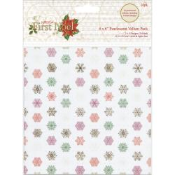 Papermania First Noel Vellum Pack 6 X6 10/Sheets - 5 Pearlescent Designs/2 Each (3 W/Foil)