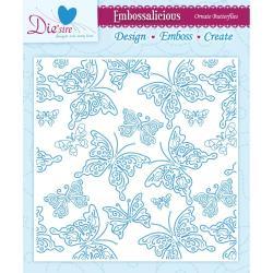 Embossalicious Embossing Folders 6 X6 - Ornate Butterflies