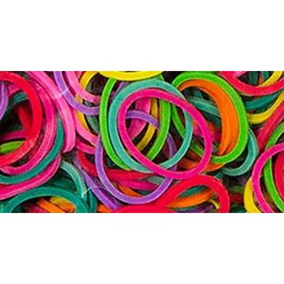 Mini Rubber Bands 1000/Pkg W/36 Clips - Multicolor