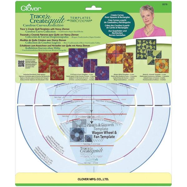 Trace 'n Create Templates With Nancy Zieman - Carefree Curves Collection