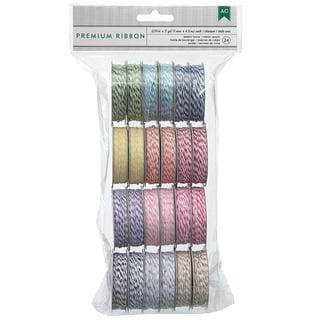 Value Pack Baker's Twine 5 Yards/Spool 24/Pkg - 12 Bright Colors/2 Each