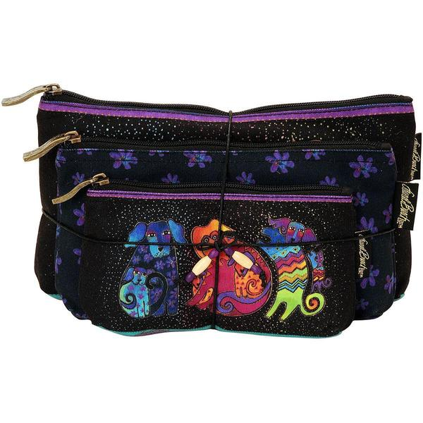 Cosmetic Bag Set Of Three - Dog & Doggies