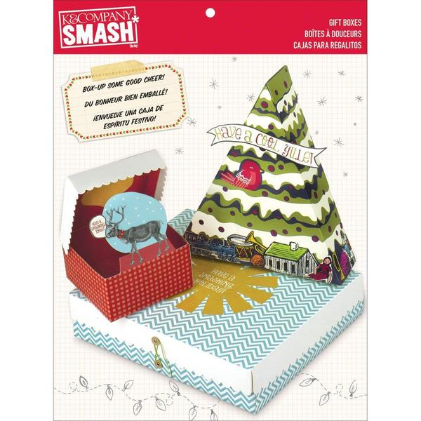 SMASH Seasonal Gift Boxes 17-1/2 X7-1/2 X3/4 - 3 Boxes