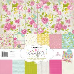 Confetti Paper Pack 12 X12 - 6 Double-Sided Designs/2 Each + Stickers