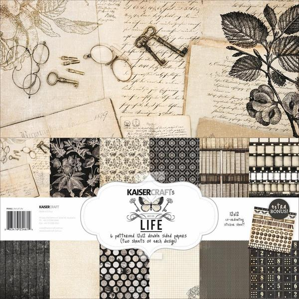 Art Of Life Paper Pack 12 X12 - 6 Double-Sided Designs/2 Each + Stickers