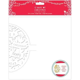 Papermania 12 Days Of Christmas Pop-Up Cards 8 X8 4/Pkg - Text