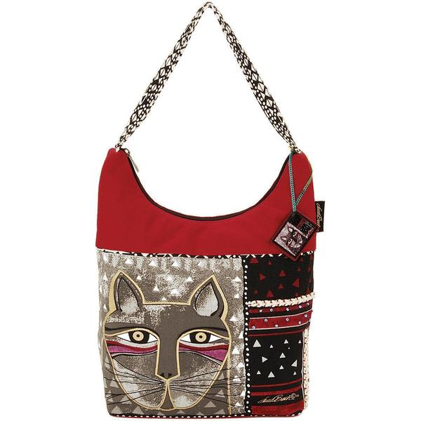 Medium Scoop Tote Zipper Top 13-1/2 X3-3/4 X12-1/2 - Whiskered Cat
