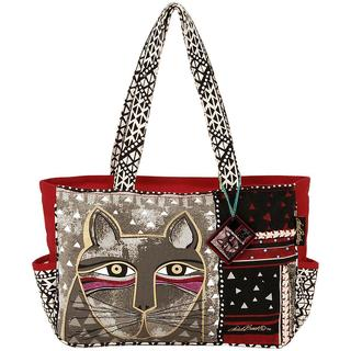 Medium Tote Zipper Top 16-1/2 X4 X9-3/4 - Whiskered Cat