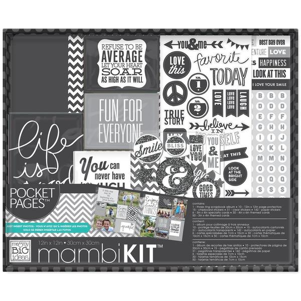 Me & My Big Ideas Boxed 12 X12 Album Kit - Life Is Good
