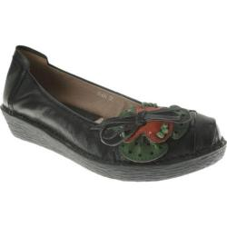 Women's Spring Step Event Black Leather