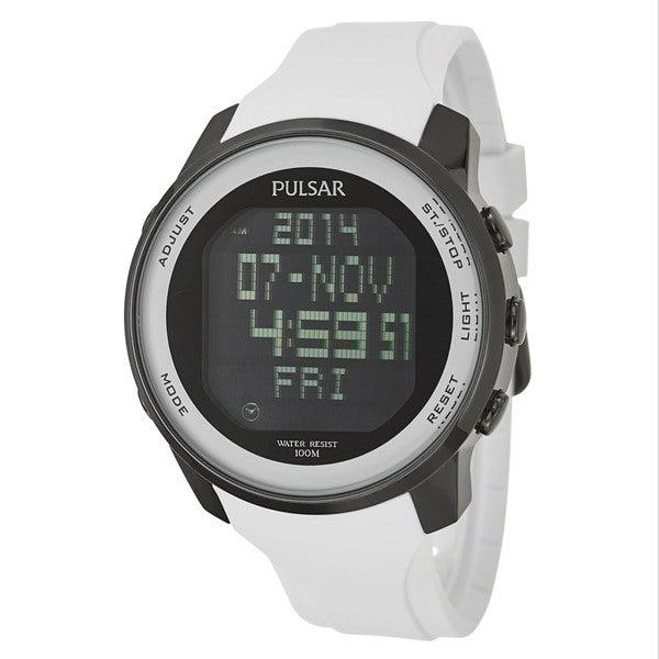 Pulsar Men's PQ2015 Classic Digital White Strap Watch