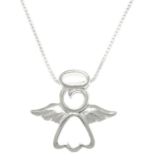 CGC Sterling Silver 'My Little Angel' Necklace