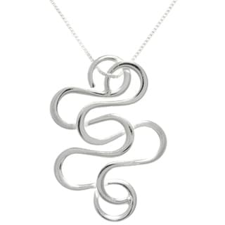 CGC Sterling Silver Snake Swirl Necklace