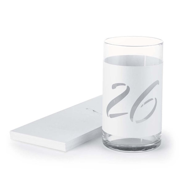 Wine Bottle Table Number Wraps (Set of 40)