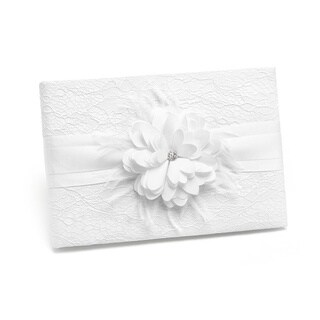 White Layers of Lace Guest Book
